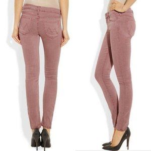 MOTHER The Looker Old Rose Skinny Jeans low rise